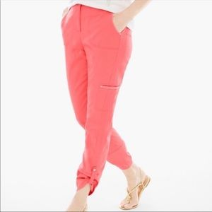 Chico's Ultimate Fit Luxe Twill Utility Crop Pants